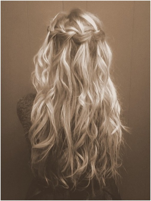 Curly Hairstyles With Waterfall Braids Waterfall Braid For Curly Hair