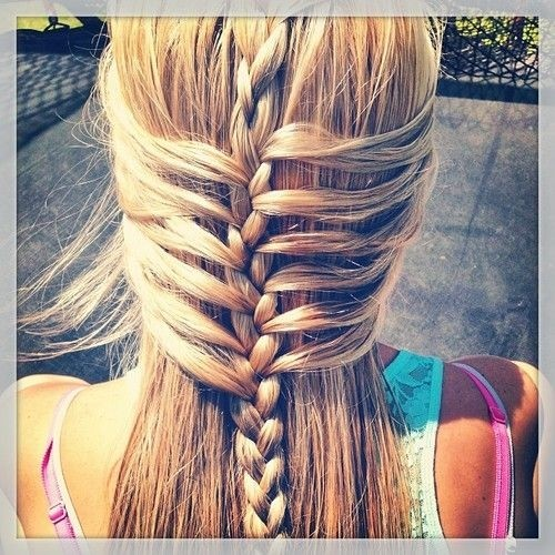 Waterfall Braided Hairstyle for Long Straight Hair