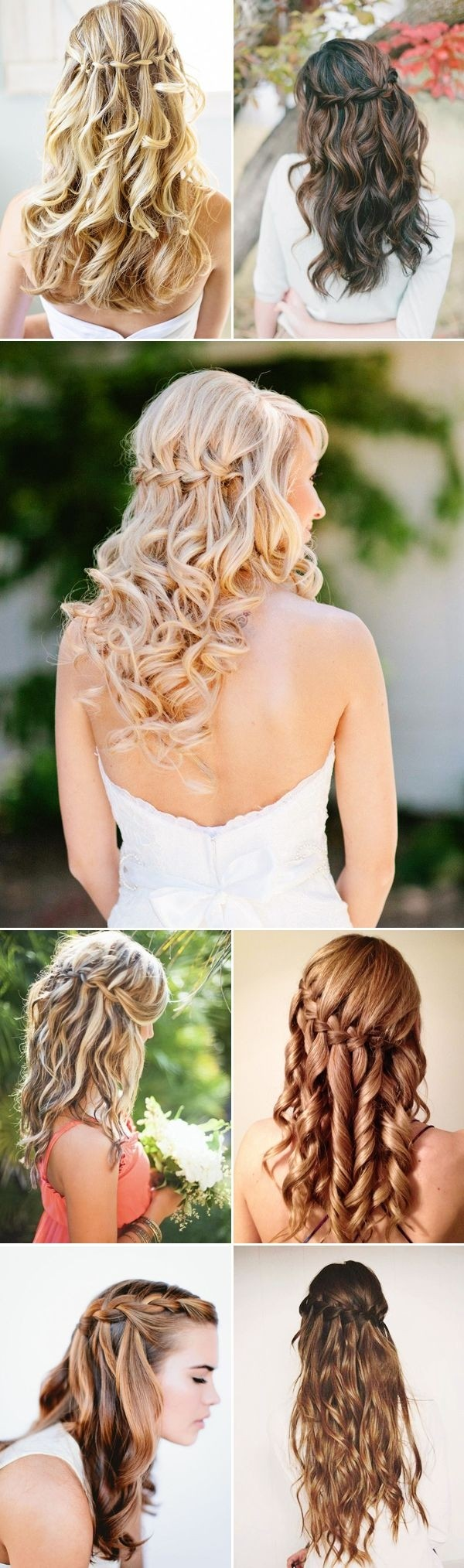 Waterfall Braids for Bridesmaids Hairstyles