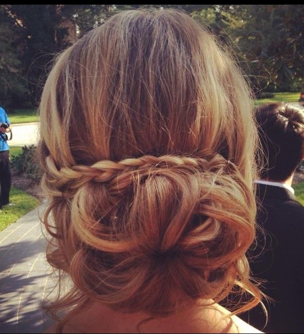 Wedding Bridesmaids Braid Updo