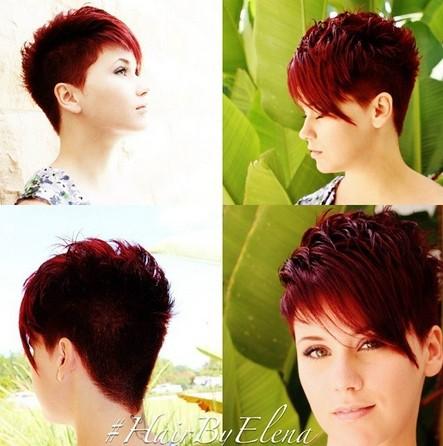 Asymmetrical Short Haircut with Bangs