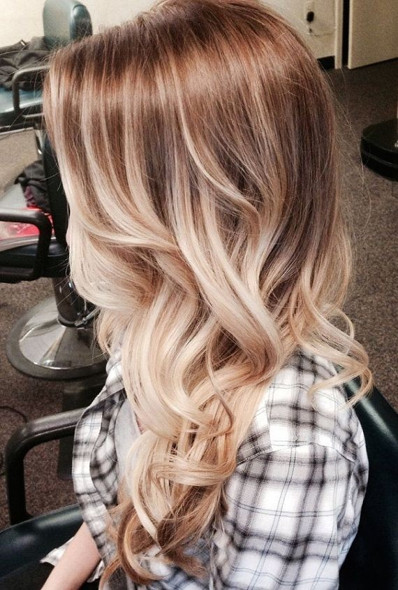 Blonde Ombre Hairstyle for Long Hair