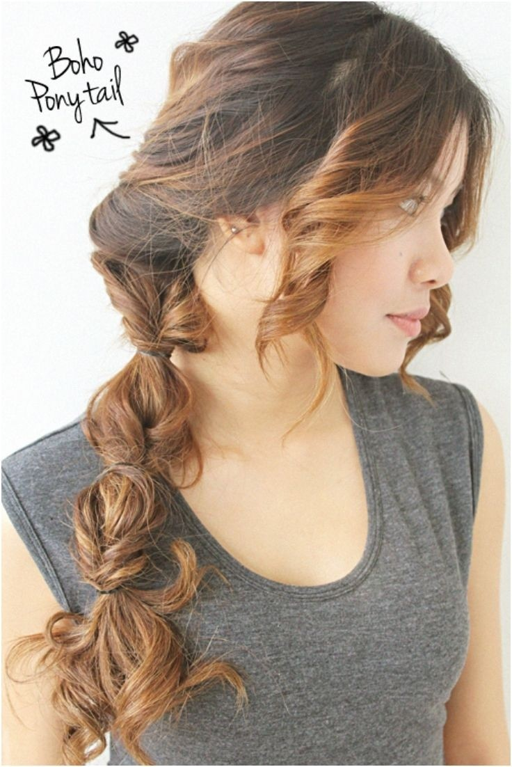 Boho-chic Side Ponytail Hairstyle