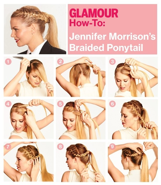 Braided Ponytail Hairstyle Tutorial