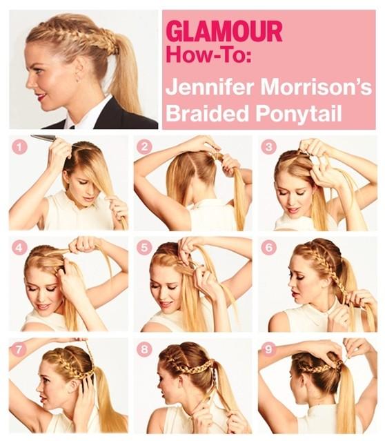 Stupendous How To Make A Braid Going Into Ponytail Braids Short Hairstyles Gunalazisus