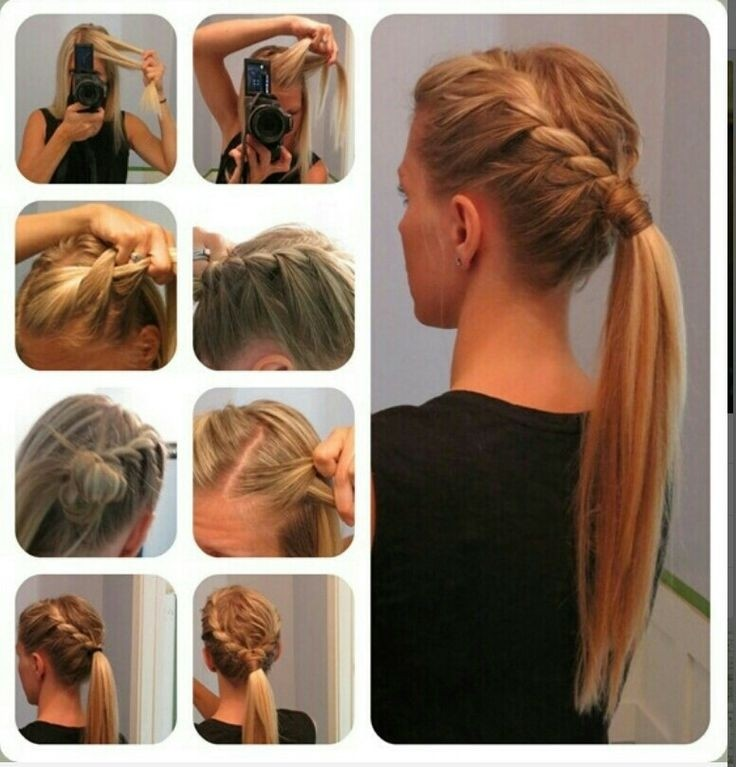 Hairstyles For Long Hair Ponytail : Braided Ponytail Hairstyle for Long Straight Hair via