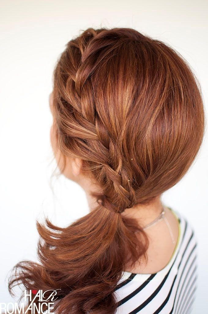 Braided Ponytail for Medium Hair