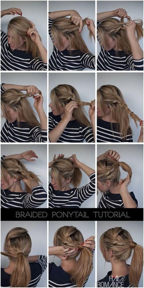 Braids into Ponytail Hairstyle Tutorial