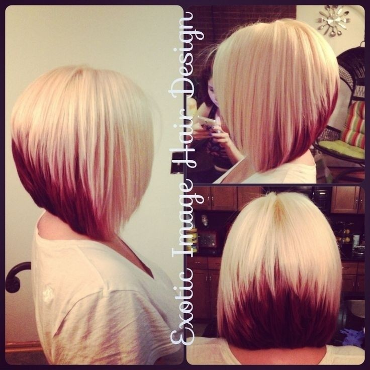 Colored Stacked Bob Hairstyle