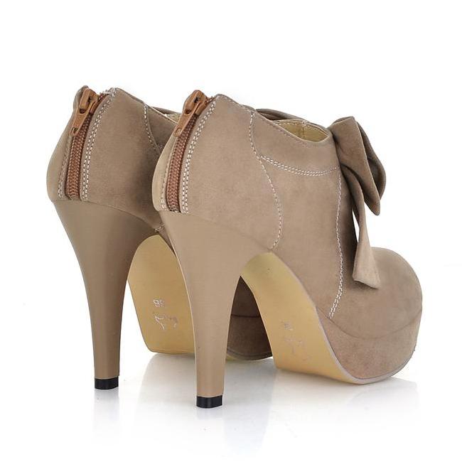 Cute Bow Tie Stiletto High Heel Pumps