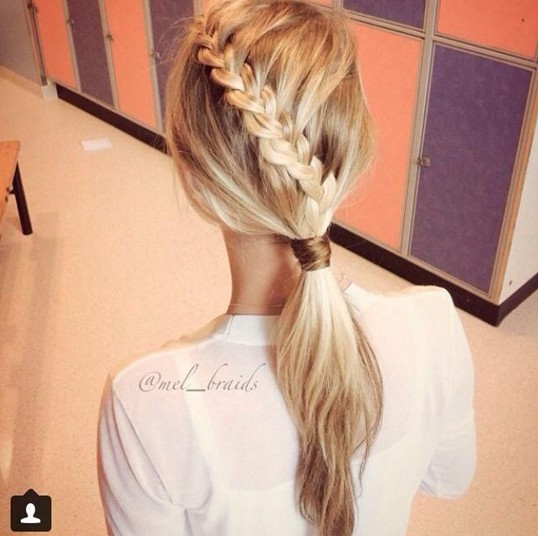 Cute Braid Ponytail Hairstyle