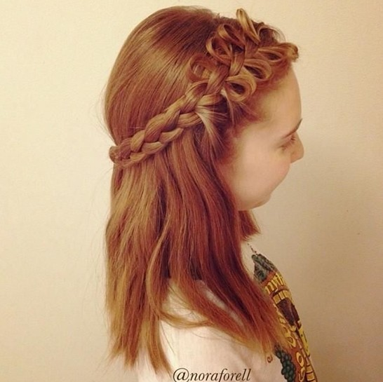 Plaited hairstyles for girls