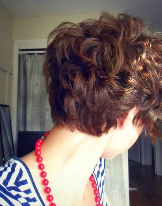 Cute Short Curly Hairstyle