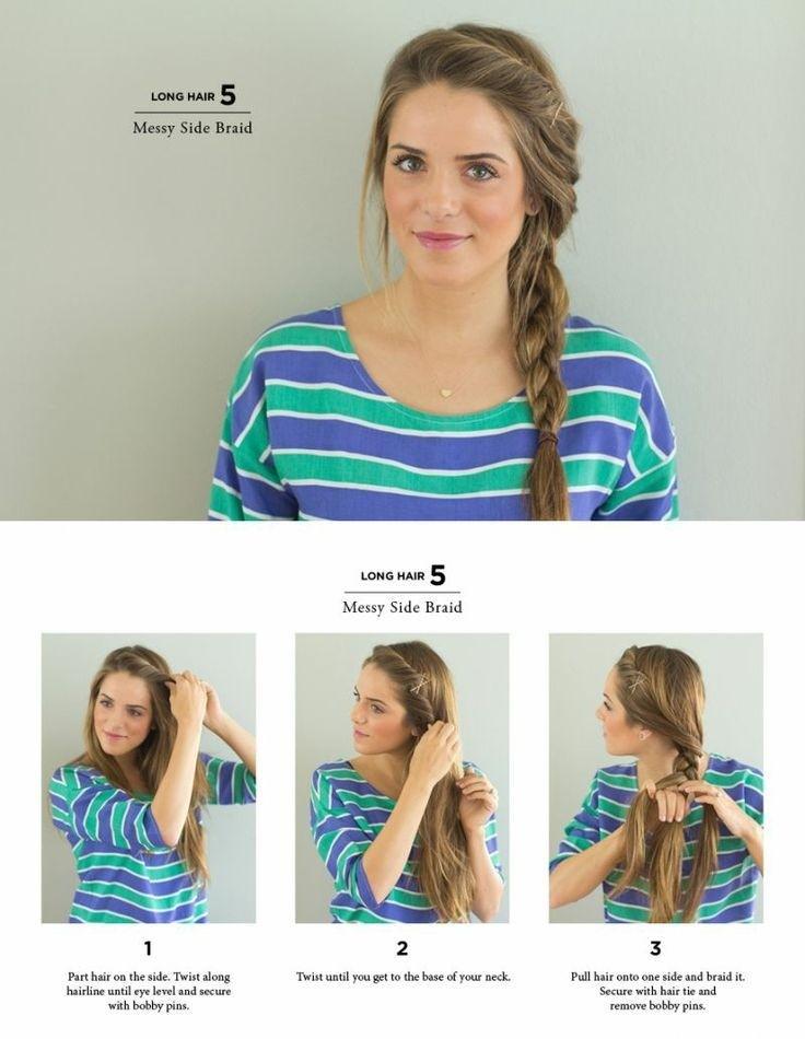 Cute Side Braid Ponytail for Long Hair