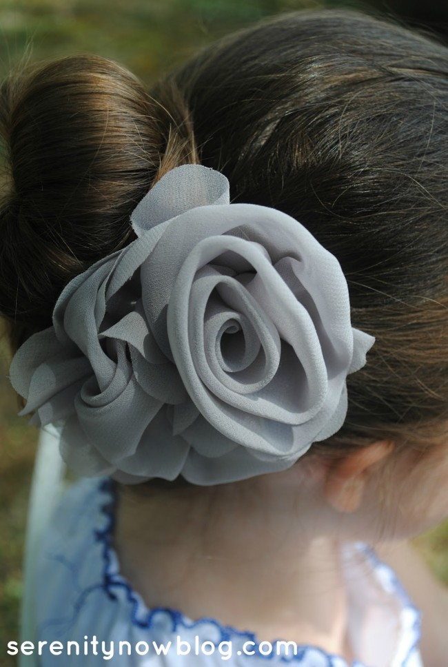 DIY Hair Accessories - Grey Rose