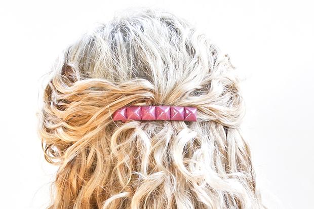 DIY Hair Accessories - Studded Hair Clip