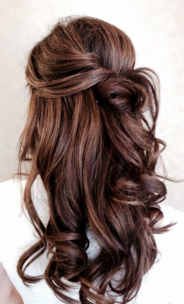 Dark Hair Colour for Long Hair