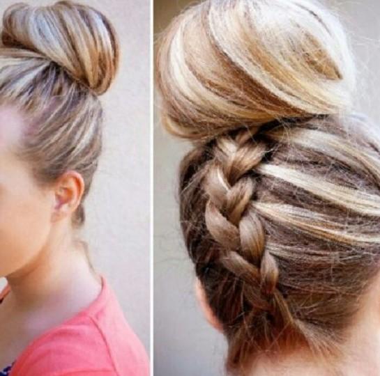 Donut Bun Hairstyle For Long HairDonut Bun Hairstyle For Long Hair