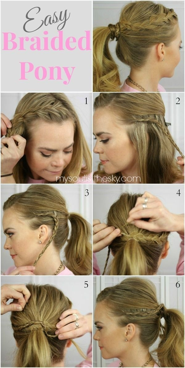 Easy Braided Ponytail Hairstyle for Long Hair