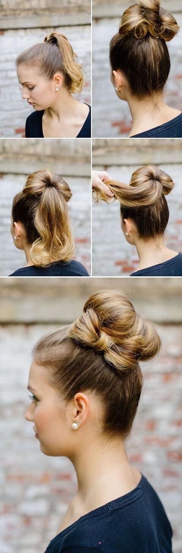 Groovy 16 Easy And Chic Bun Hairstyles For Medium Hair Pretty Designs Hairstyles For Women Draintrainus