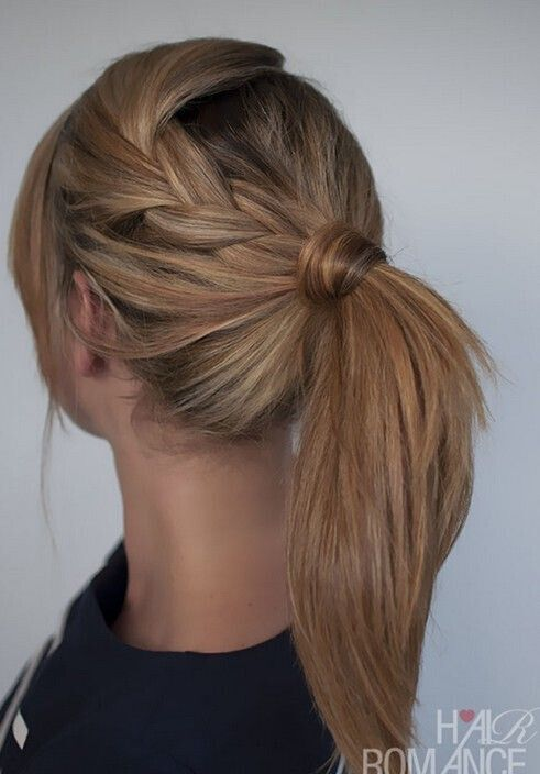 Easy Ponytail Hairstyle with Braid