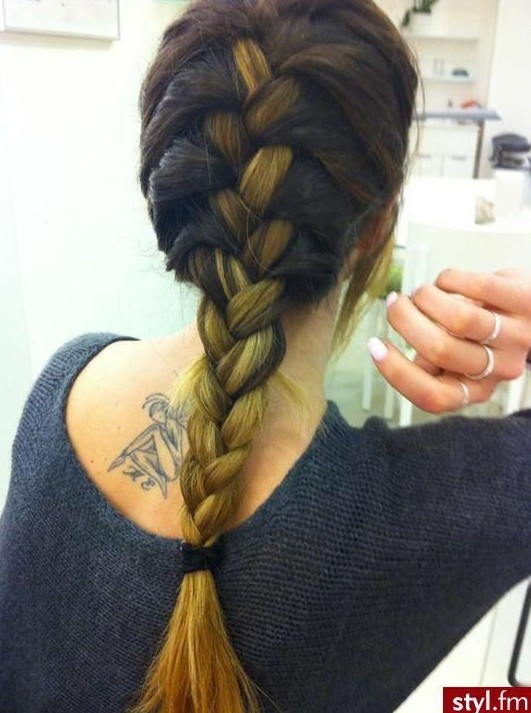 French Braid Hairstyle for Ombre Hair
