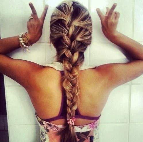 French Braid Hairstyle for Summer