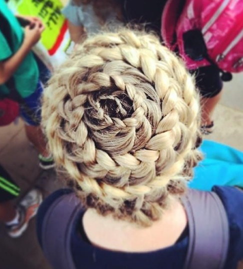 Full Head Braid for Updo Hairstyles