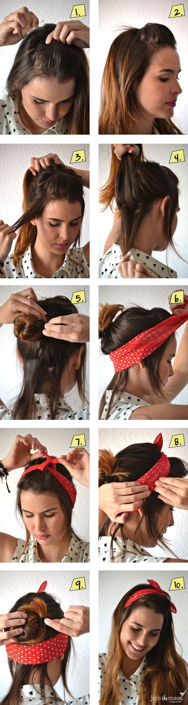 10 Beautiful Hairstyles with Scarf and Bandanna - Pretty Designs