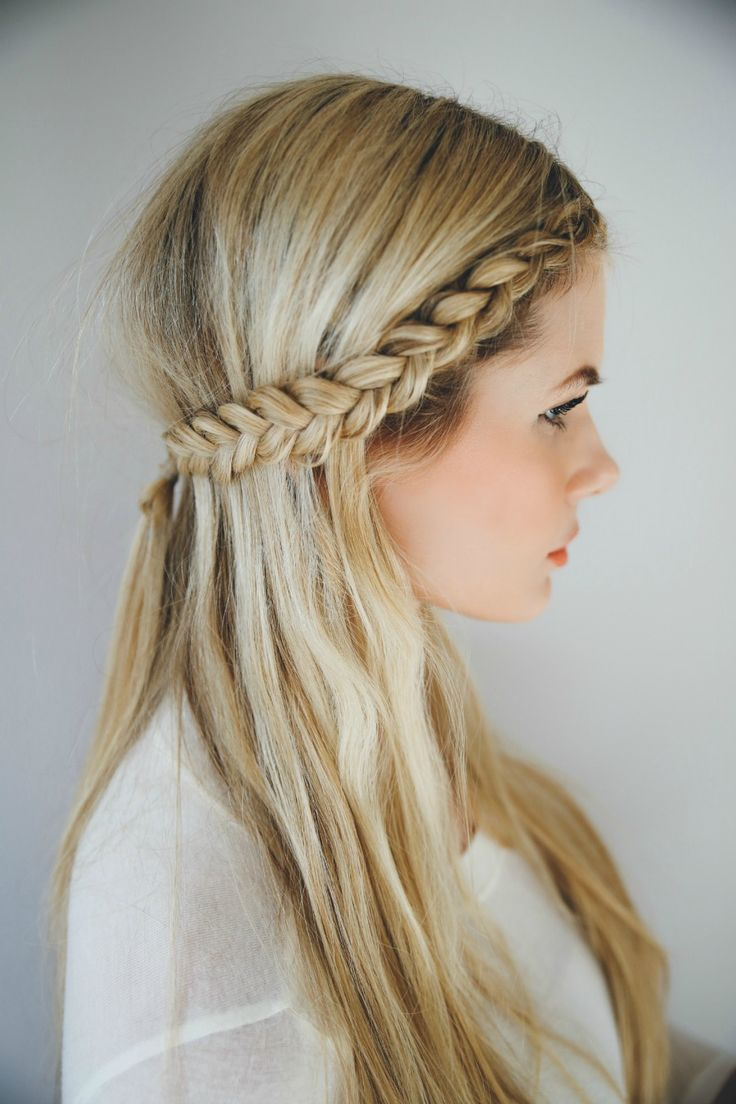 Half-up Hairstyle with Braided Headband