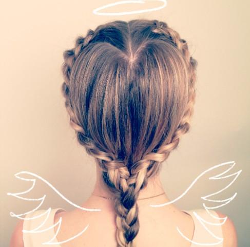 Heart Braid Hairstyle Design for Long Hair