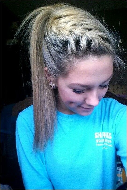 High Ponytail with French Braid