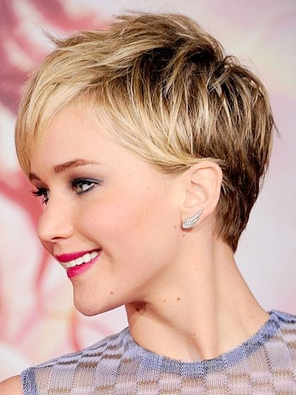 Jennifer Lawrence Short Pixie Haircut