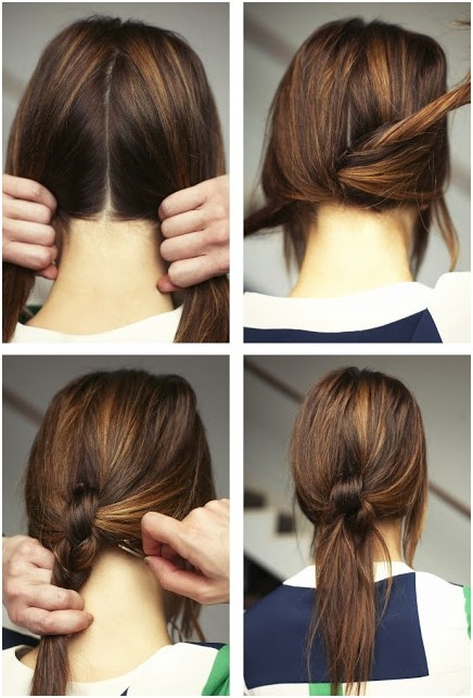 Best Haircuts For Knotty Hair : Simple and chic ponytail hairstyles pretty designs