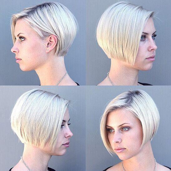 Layered Bob Haircut for Blonde Hair
