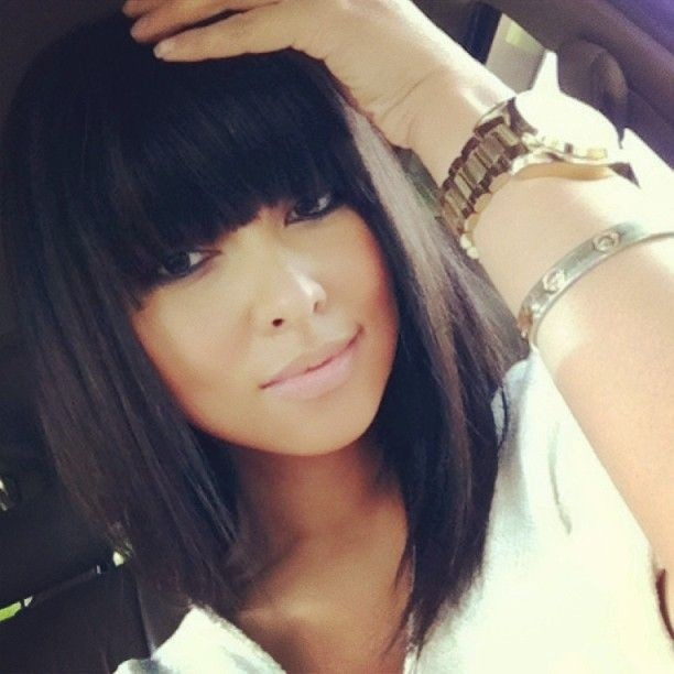 Awe Inspiring 12 Coolest Black Hairstyles With Bangs Pretty Designs Hairstyle Inspiration Daily Dogsangcom