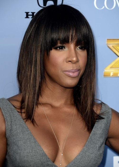 Excellent 12 Coolest Black Hairstyles With Bangs Pretty Designs Hairstyles For Women Draintrainus