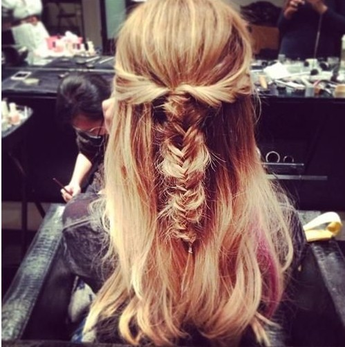 Messy Half Up Fishtail Hairstyle