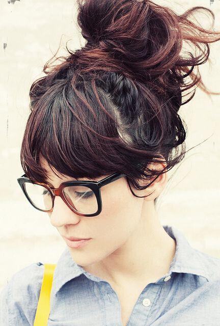 Messy High Bun Hairstyle For Medium, Long Hair