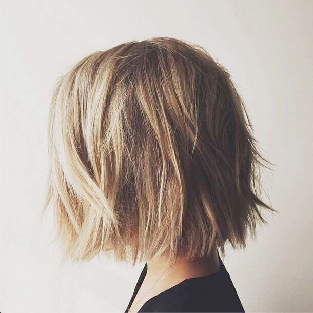 Time to Write: Messy Short Bob Haircut for Thick Hair