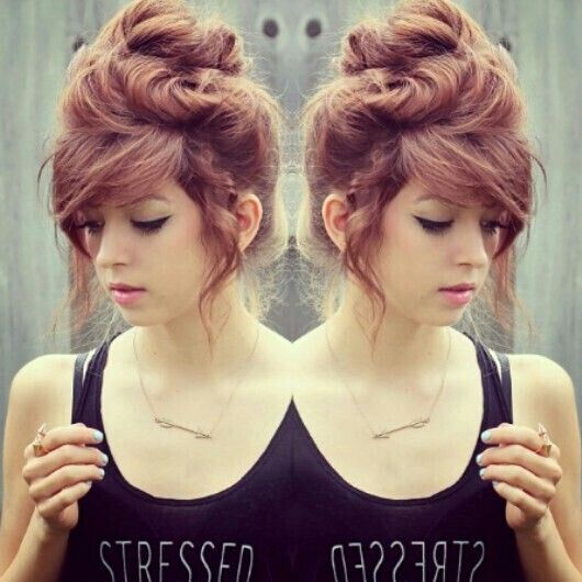 Messy Updo Hairstyle for Girls