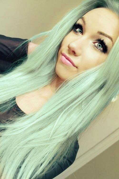 Pastel Hair Color for Long Straight Hair