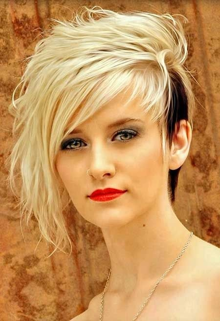 Excellent 16 Cool And Edgy Black Blonde Hairstyles Pretty Designs Short Hairstyles Gunalazisus