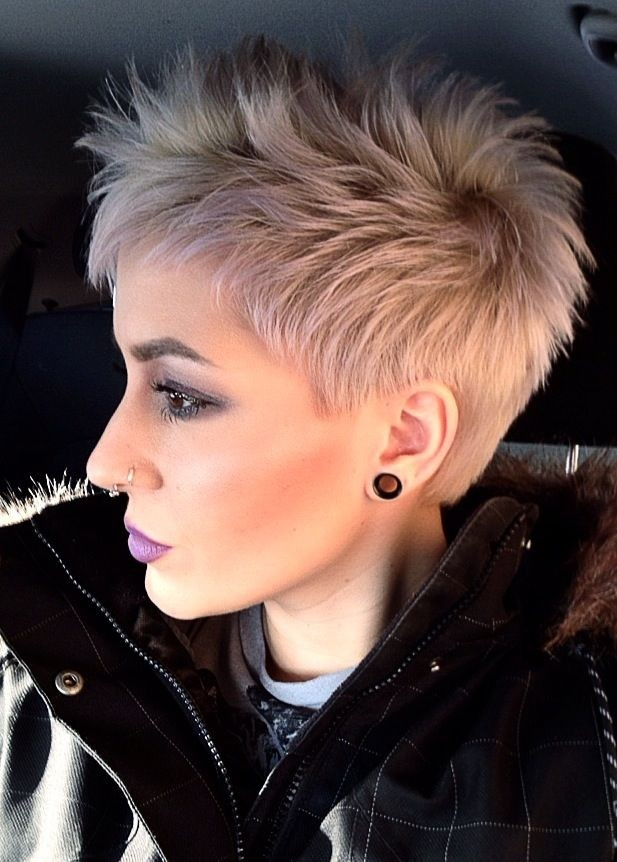 Platinum Pixie Haircut for Fine Hair