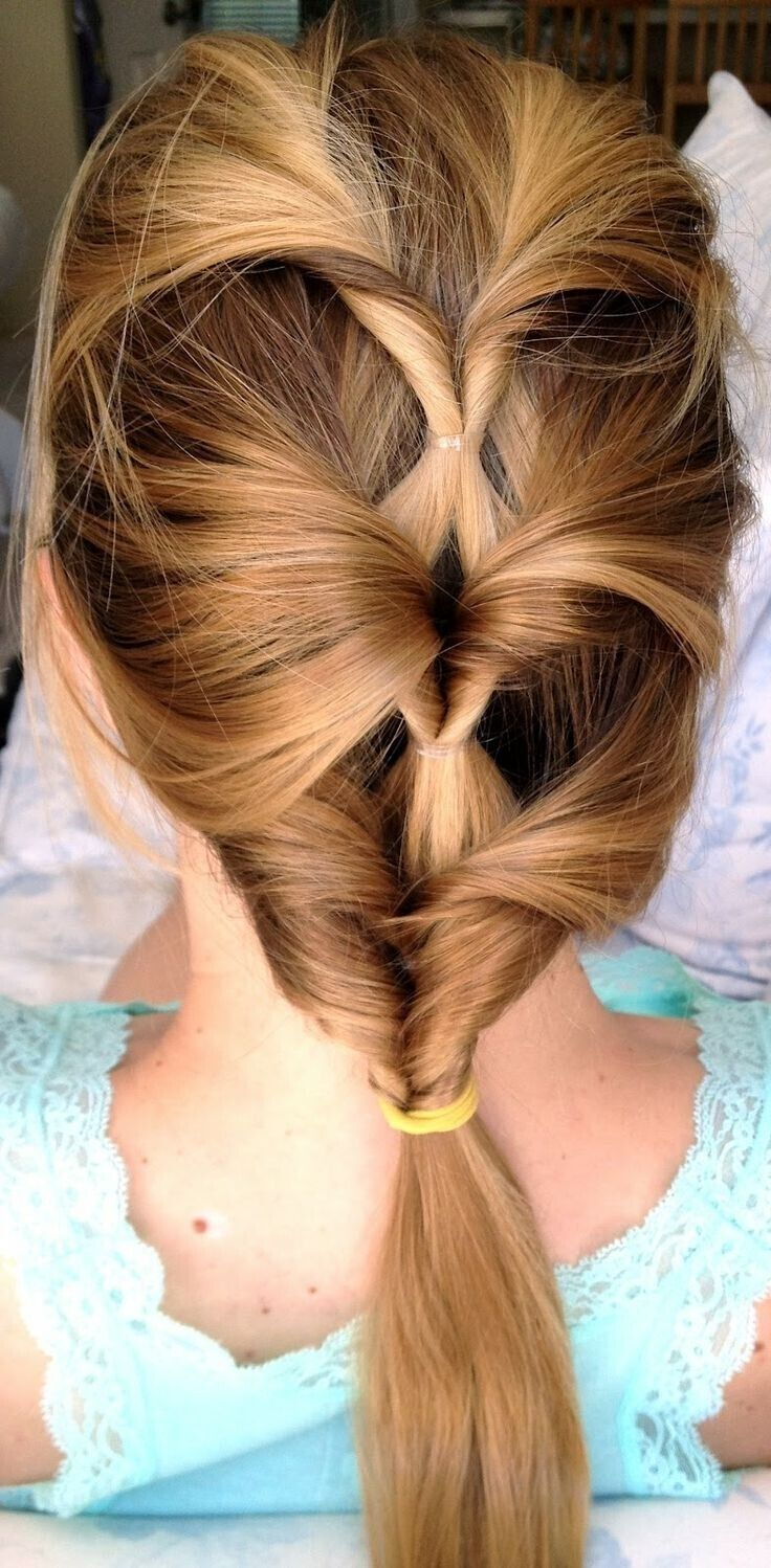 Twisted Ponytail Hairstyle for Long Straight Hair