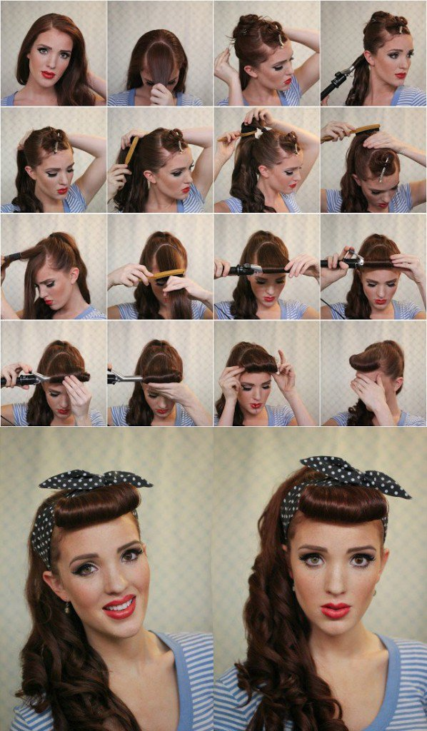 Retro Hairstyle Idea With Bandanna