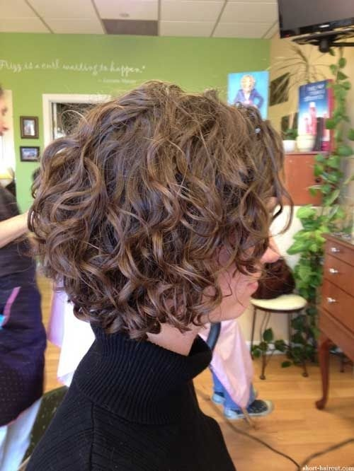 Short Curly Bob Hairstyle with Layers