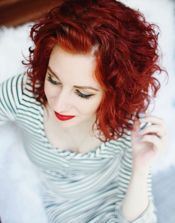 Short Curly Hairstyle for Red Hair