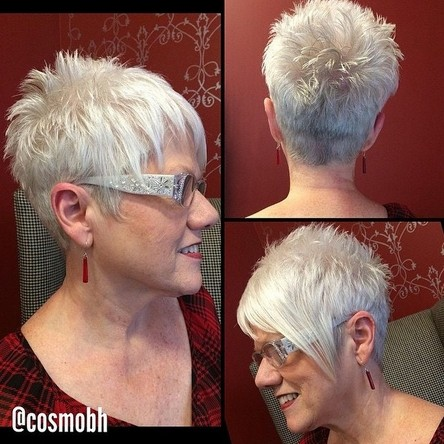 Short Spikey Haircut for Women Over 50