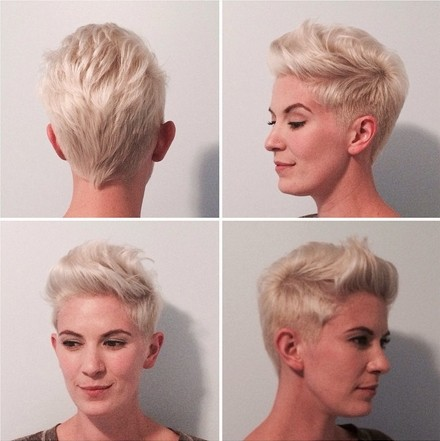 Short Spikey Hairstyle for Long Face